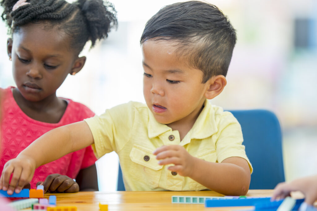 Young children learning at Bright Futures Learning Center in Harrisburg, PA